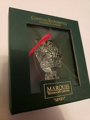 """Marquis Waterford Crystal """"Santa"""" Ornament Christmas 4th in Series NEW"""