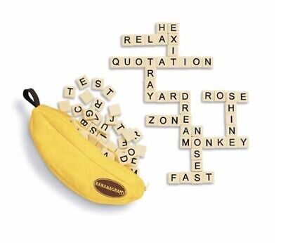 Bananagrams Tile Word Game NEW W/ Tags  144 TILES and Carry Bag + INSTRUCTIONS