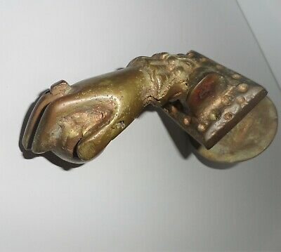Antique 1900 old French Cast Iron Hand Door Knocker /door knob/handle