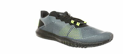Reebok Mens Flexagon Cold Grey/Black/Neon Lime Cross Training Shoes Size 13
