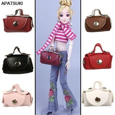 8pcs/lot 1/6 Doll Accessories For Barbie Bags Leather Bag Accessories for Barbie