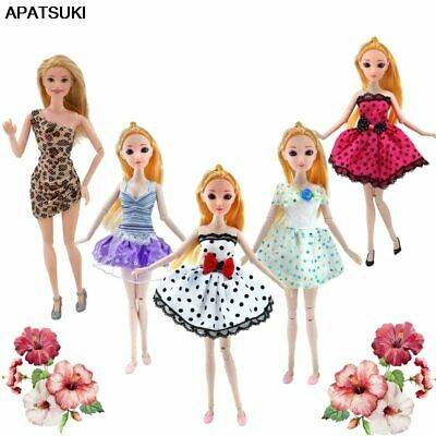 5pcs/lot Doll Clothes for Barbie Doll Outfits Dress for 1/6 BJD Doll Party Dress