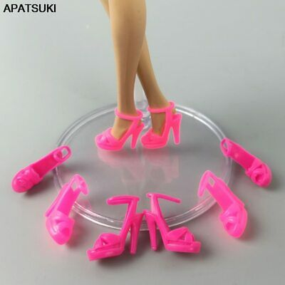 5pair/lots Doll Shoes For Barbie Doll High Heel Shoes Sandals for 1/6 BJD Dolls