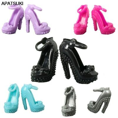 5pair/lot Random High Heels Shoes for Barbie Doll Sandals Doll Shoes for 1/6 BJD