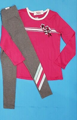 Nwt Justice Girls Outfit~ Long Sleeve Shirt & Leggings Size 8