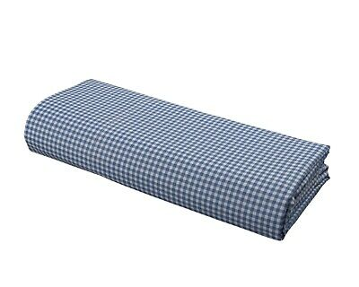 "DELANNA Blue Gingham Pillowcases 100% Cotton Percale Standard  20""x30"" Set of 2"