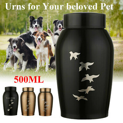 UK Mini Urn for Pet Ashes Cremation Memorial Cat Dog Keepsake Ash Container Jar