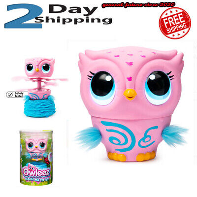 Owleez Interactive Flying Toy Owl Baby Pink Sounds Lights Pet New Helicopter
