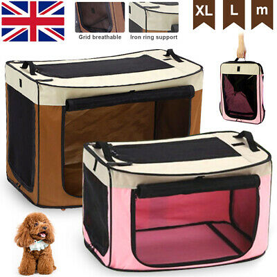 Portable Soft Fabric Pet Carrier Dog Cat Puppy Transport Bag Cage Folding Crate