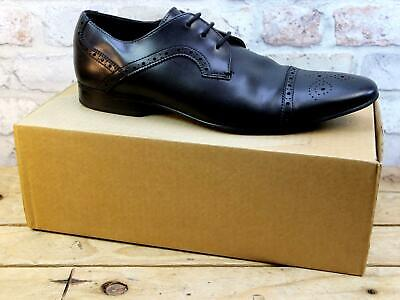 Mens Office London Black Leather Smart Work Formal Lace Up Brogue Shoes Size 11