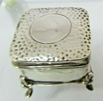 ANTIQUE Solid Silver ring box  and hinged cover, Bhm, 1906