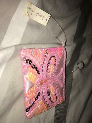 Brand new girls ladies coin purse with pink sequin butterfly from claires
