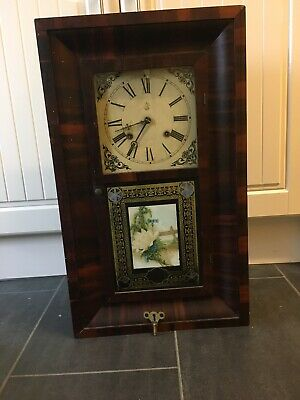American Clock,Waterbury Clock Company Rare Clock 1874 Pendulum And Lever Clock