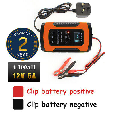 Intelligent 12V 5A Motorcycle Motorbike Battery Charger Automatic Smart Trickle