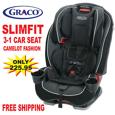 Graco Slim Fit 3-in-1 Convertible Car Seat,Camelot Car Seat Infant Child Booster