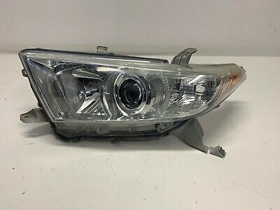 2011-2013 OEM Toyota Highlander driver side left hand halogen headlight