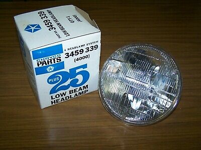 Chryco 3459 339 Low Beam Headlamp 4001 New Old Stock REDUCED!