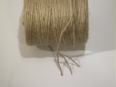 3ply 250m-1000M ROLLS Natural Jute Twine Brown String Thicker 2.5mm Quality Cord