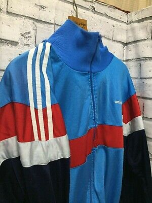 "Retro Vintage Nineties Adidas Tracksuit Top Size L/XL (44"" chest)"