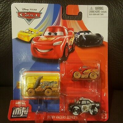 Disney Pixar Cars Mini Racers Derby Racers Miss Fritter 3 Pack Free Ship $15+
