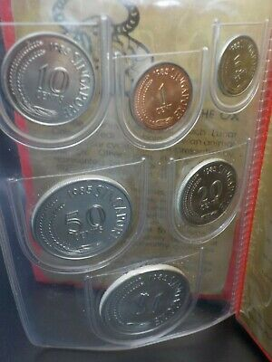 1985 Singapore Cuhaj MS 22 UNC Coin Set