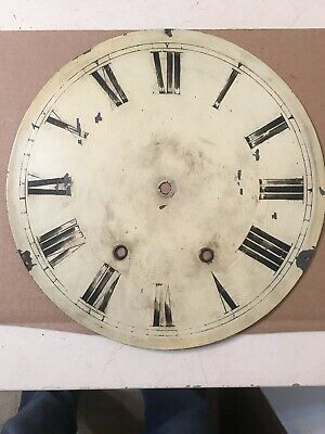 "Antique 12"" Wall Clock Dial From Anglo American Case Jerome Welch Era"