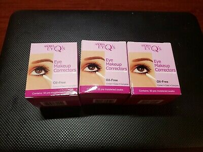 Andrea Eyeq's Oil-free Eye Make-up Correctors Pre-moistened Swabs!!! BRAND NEW!!