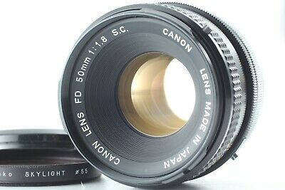 Exc+5 Canon FD 50mm f/1.8 S.C. MF Standard Prime Lens From Japan