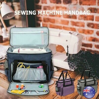 Waterproof Sewing Machine Dust Cover with 3 Pockets Storage Bag Carrying Case