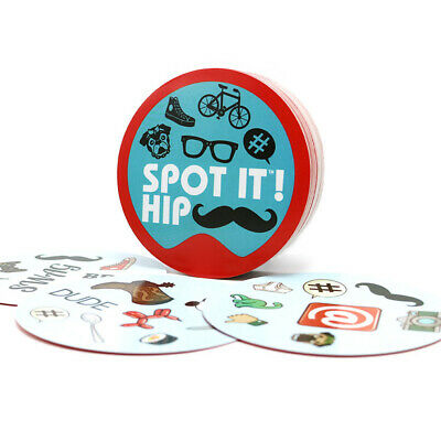 "NEW Card Game ""Spot it Hip"" for Adult: - Home + Party Board Game Dobble it Board"