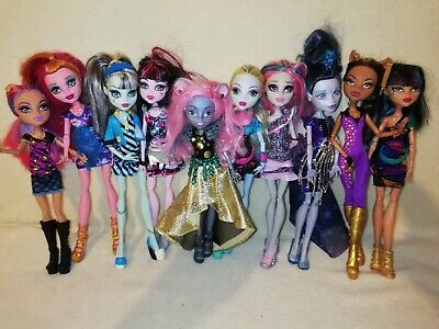 Monster High Bulk. MOUSCEDES, ELLE, GIGI & 7 MORE GORGEOUS VERY CLEAN GHOULS!