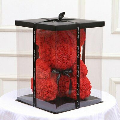 Empty Gift Box for Artificial Teddy Bear Rose Flower Gifts Box rN