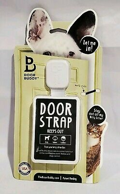 Door Buddy Baby Proof Door Lock with Adjustable Strap Keeps Out Dogs Toddlers