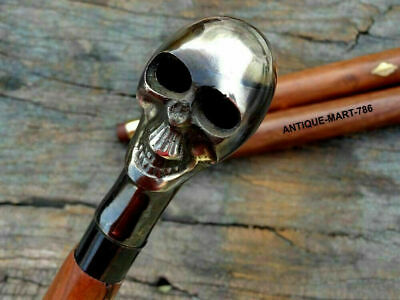 Collectible Walking Stick Cane Nautical Design Skull Handle Christmas Day Gift