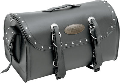 American Rider X-Large Black Studded Rack Bag Luggage Harley Indian Victory