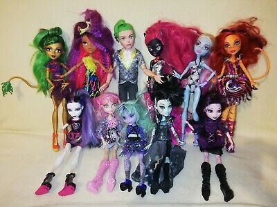Monster High Bulk Deuce & 10 Glamorous Ghouls. AWESOME COLLECTION UPGRADE PACK!