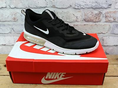 Mens Nike Air Max Sequent 4.5 Black Mesh Sports Running Fitness Trainers Size 9