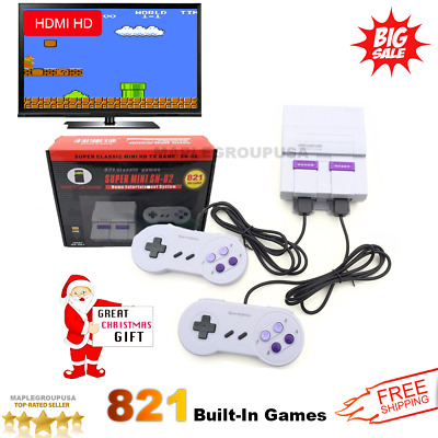 821 Games Built-in Super Mini Entertainment Classic HDMI Game Console Christmas