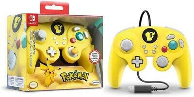 PDP Nintendo Switch Pokemon Pikachu GameCube Style Wired Fight Pad Controller