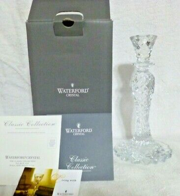"Waterford Crystal Sea Jewel Abstract Seahorse Candlestick 10"" NIB"