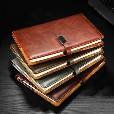 A5 PU Leather Vintage Journal Notebook Lined Paper Diary Planner with Buckle US