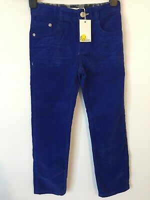 Boden Kids Blue Fine Corduroy Relaxed Fit Chino Trousers Age 7 Years NWT