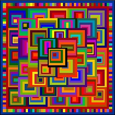"""UNTOUCHABLE - 105"""" - Pre-cut Quilt Kit by Quilt-Addicts King size"""