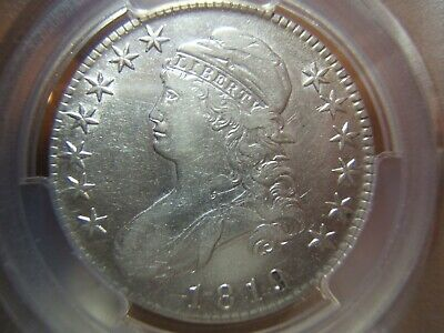 1819 Capped Bust Silver Half $ O .113 PCGS XF40, Looks Better.  Nice almost whit