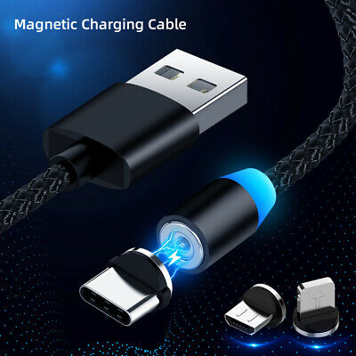 Magnetische Micro USB Typ C Schnell Ladekabel iPhone Samsung Huawei P20 P30 Pro