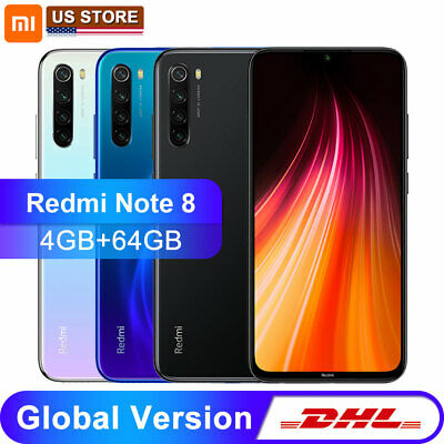 "Xiaomi Redmi Note 8 4+64GB 6.3"" 4000mAh 48MP Unlocked Smart Phone Global Version"