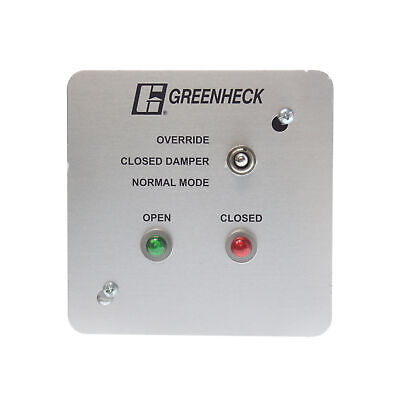 Greenheck Gts-1 Single Control Panel Test Switch For Smoke Management Systems