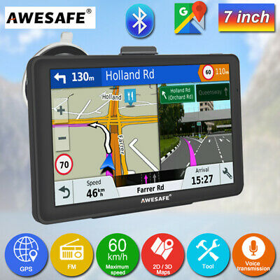 "7 ""Awesafe GPS Navigation with Bluetooth and Reverse Camera Portable GPS SAT NAV"