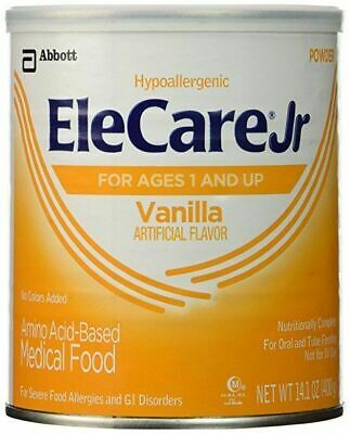 EleCare Jr Vanilla Medical Toddler Children Junior Formula Food 6 cans (1 case)