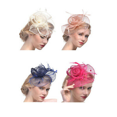 Fascinator Headband Clip Feathers Hat Wedding Race Royal Ascot Alice Head Piece